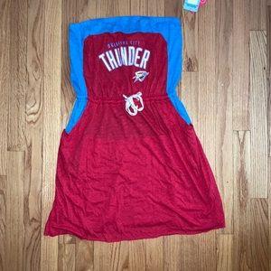 Oklahoma City THUNDER tube dress.